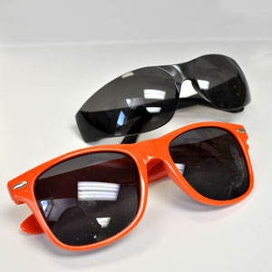 Sunglasses in a variety of shapes and sizes for patients of any age