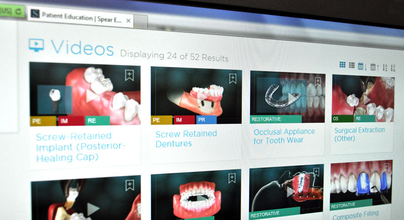 Dr. Mercando uses SPEAR Education videos to walk you through every step of your dental procedure.